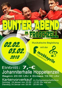 Flyer Bunter Abend 2018